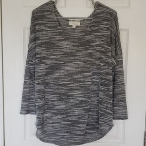 Olive and oak, L, Sheer, long sleeve top